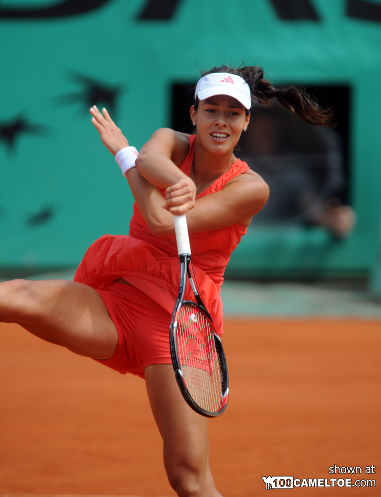 Set of Ana Ivanovic wet tennis camel toe