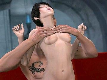 Horny 3d anime couple enjoys hot sex