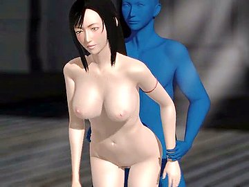 Blue alien fucks girls mouth and nub. Who said that aliens have no sex? This blue alien is definitely of a male sex because he's got the big blue cock that slides deeply inside the hentai babe's mouth and pussy!