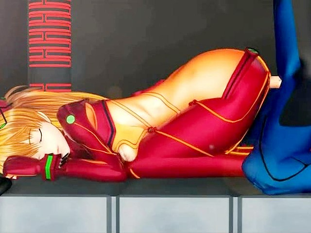 Hot asuka hentai creampie video.