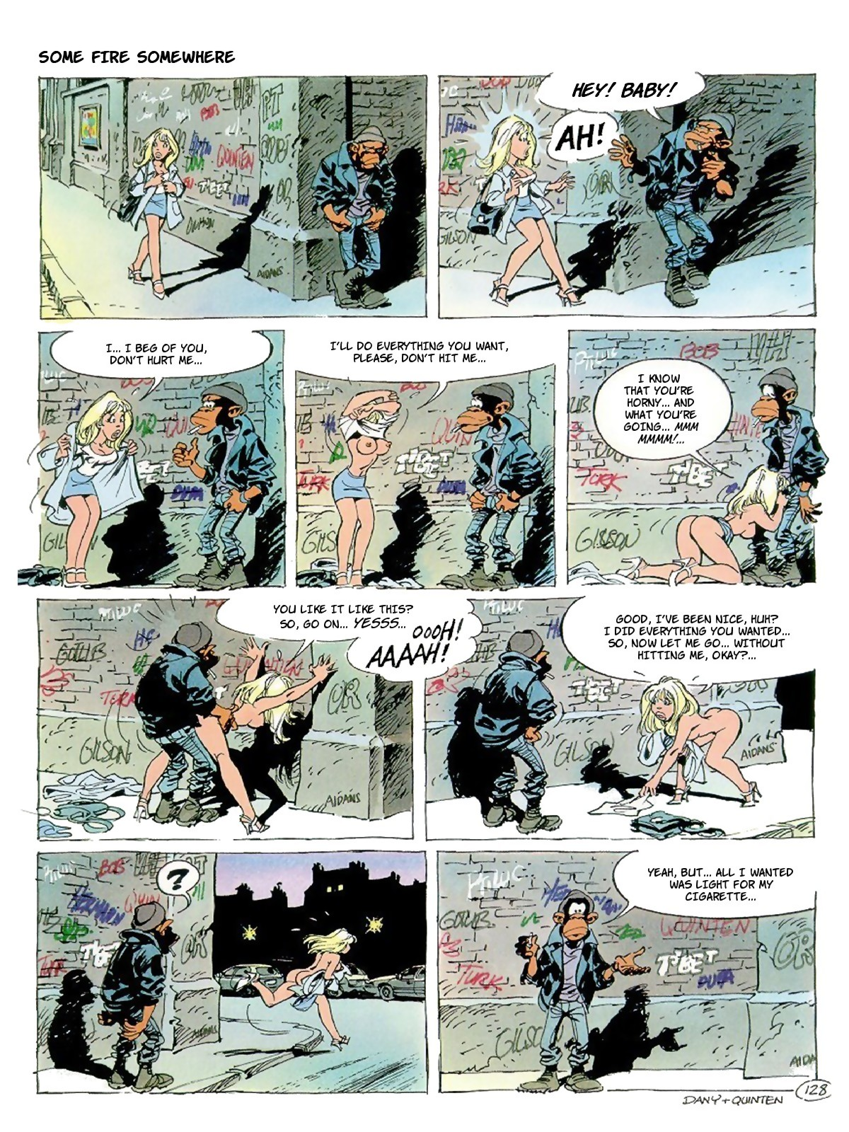 02b The poor blonde doll from this adult comix meets a street bandit in the ...