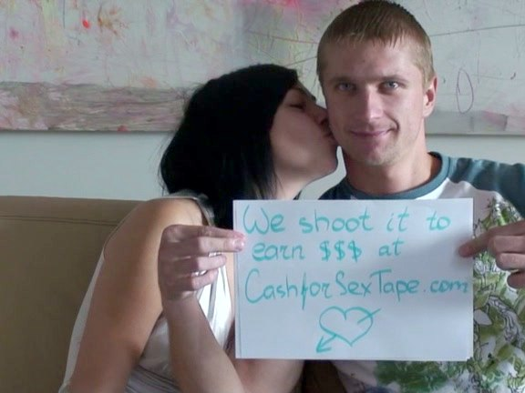 The guy and his babe girlfriend have recorded their home vids to earn extra cash