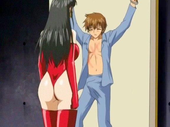 Voluminous titted dominatrix fucks and sucks guy. Salacious dominatrix with considerable natural tits heavily fucks and swallows guy in hot anime
