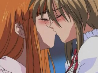 Passionate lez kiss ended up with wild have sex in hot anime. Lesbian animated scenes with two chicks passionately kissing and have intercourse