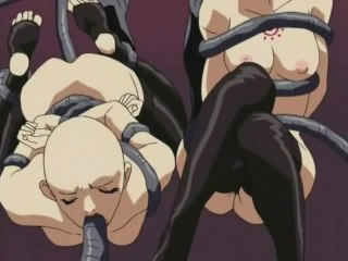 Disgusting anime with bald coeds sucking long palps
