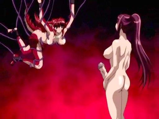 Trans Hentai scopa ragazza intrappolata in tentacoli