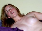 Hot pics with coeds moaning on huge dildos from My Gf Sex