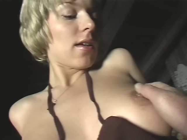 A blond in red lingerie has fuck in the roof space from My Pickup Girls