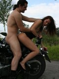 Babe picked up on a bus stop and fucked on a bike