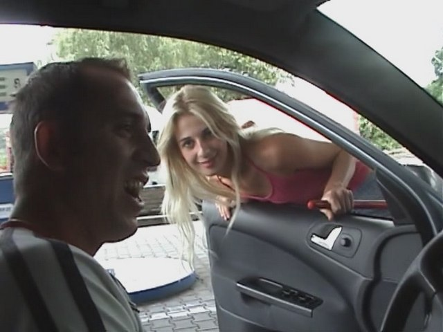 An attractive blonde on the car wash practices sex for money. from My Pickup Girls