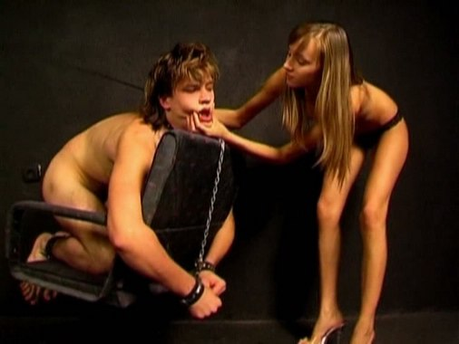 Lady with great ass facesitting enchained guy from My SLave LIfe