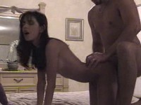Wild home video with chick owned in doggy style from Private Home Clips