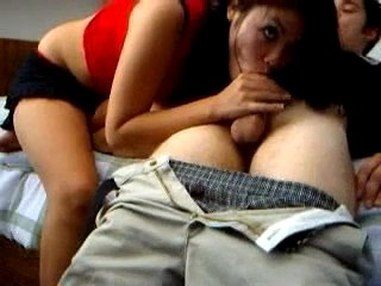 Sex with asian girlfriend filmed on hid cam