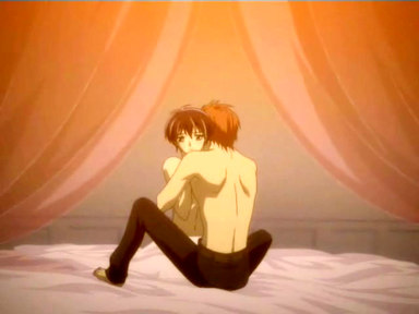 Very young yaoi boy gives way to despair